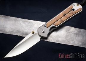 Chris Reeve Knives: Large Sebenza 21 - Thuya Burl Inlay - 013017