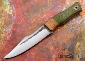 Fiddleback Forge: Protagonist - Evergreen Burlap - Natural Canvas Bolster - Natural Liners - A2 Steel