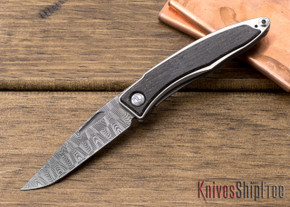 Chris Reeve Knives: Mnandi - Bog Oak - Basketweave Damascus - 020604
