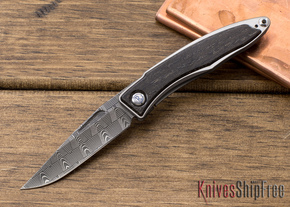 Chris Reeve Knives: Mnandi - Bog Oak - Basketweave Damascus - 020605