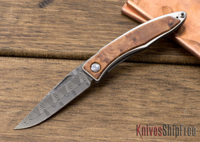 Chris Reeve Knives: Mnandi - Thuya Burl - Basketweave Damascus - 020614