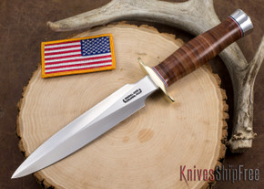 Randall Made Knives: Model 2-7 Fighting Stiletto - Stacked Leather