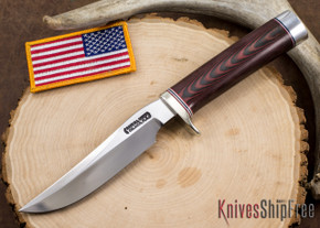 Randall Made Knives: Model 3-5 Hunter - Red & Blue Micarta