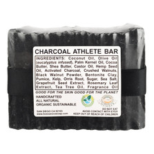 CHARCOAL ATHLETE BAR 5.5 OZ SOAP