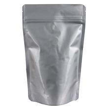 TP-SPZ500.SV Thomson Pack Stand pouch Zipper Glossy Silver/perak kilat + Valve utk 500g kopi. untuk kacan2nya mentah, daya tampung bisa lebih tinggi.