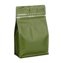 CPPACK-8813 green tea box pouch zipper valve.