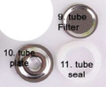 no. 9. Tube Filter,  10 Tube Plate, 11. Tube Seal,