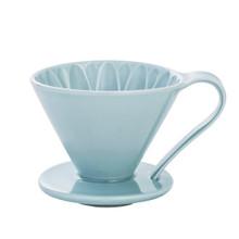 Ceramic Flower Dripper Cup1 Blue V60-01