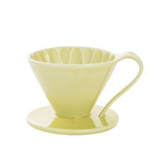 Ceramic Flower dripper cup1 Yellow