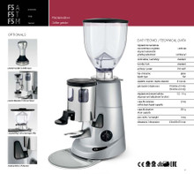 Fiorenzato F5M - Manual swith dosing chamber