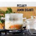 Panci kaca Cook Vision borosilicate glass stewed pot 1,3L
