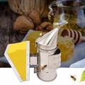 Bee smoker stainless leather bee keeping tool budidaya madu apiculture