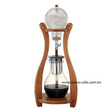 Tiamo HG6333 Cold Brew Bamboo Wood Tower 10 cup