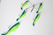 "7"" Chartreuse Kayak Umbrella Rig"