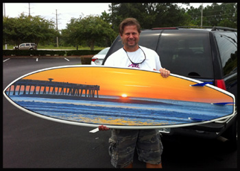 keith hall custom surfboard