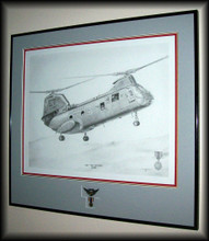 "This is the illustration framed it measures 22"" x 24"" plus I've added combat crew wings and miniature Air Medal"