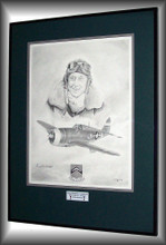 Original is sold Framed and Matted. Is signed by Major Harold Comstock.
