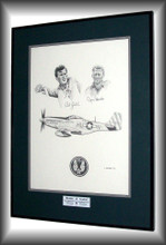 Original is sold Framed and Matted and autographed by both Capt. Robert J. Goebel and Capt. James L. Brooks