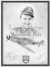 Original is sold unframed and is autographed by Lt. Rudi Gloeckner