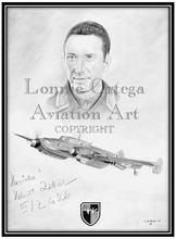 Original is sold unframed and is autographed by Lt. Helmut Zittier
