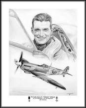 """Wing Commander James Edgar """"Johnnie"""" Johnson. I've always wanted to draw him and I finally did!!"""