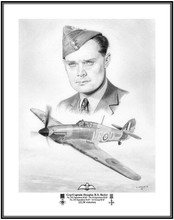 "Group Captain ""Sir Douglas Bader"", one of the great pilots of ""The Battle of Britain""!! it's always an honor to do these illustrations of great pilots of the past!"