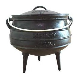 Potjie (3 legs) Oil Cured Size 4