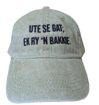 UTE SE GAT; EK RY 'N BAKKIE
