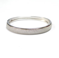 925 Silver Cubic Zirconia Bangle