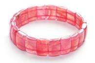 Rhodochrosite Rectangle Stretchy Bracelet