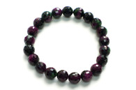 Morganite (Ruby & Emerald) Faceted Bead Bracelet