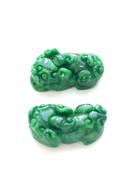 Pair of Lion Jade Pendant