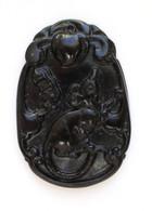 Black Jade Rat Pendant