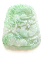 Carved Dragon Jade Pendant