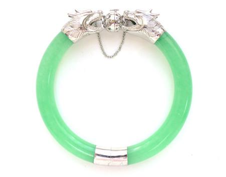 925 Silver Dragon Jade Bracelet