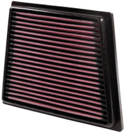 Part Number:          kn33-2955 Description:             Panel Replacement Filter Air Filter Shape:     Panel Filter Material:       Cotton Gauze