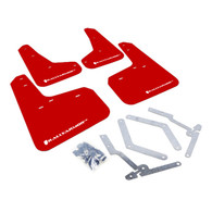 RALLY ARMOR UR MUDFLAPS RED URETHANE WHITE LOGO FORD FOCUS ST 2013-2017, FOCUS RS 2017