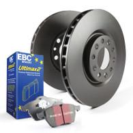 Description: Font Disc Brake Pad and Rotor Kit