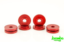 Boomba Racing Aluminum Shifter Base Bushings Red For Ford Ecoboost 2.0L