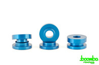 Boomba Racing Aluminum Transmission Cable Bracket Bushings BLU  For Ford Ecoboost 2.0L