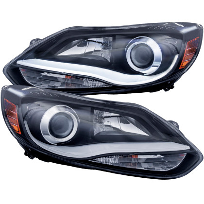 Projector Headlights w/ Plank Style Design Black Ford EcoBoost