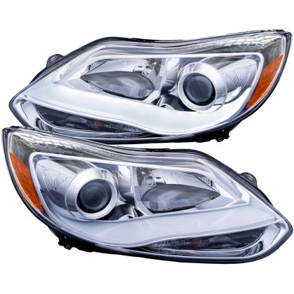 Projector Headlights w/ Plank Style Design Chrome