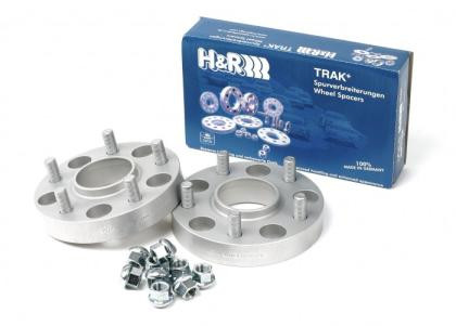 Part Number:  HR 503256331; Description:  TRAK+ Wheel Adapter; Adapts Audi/VW wheels (5/100 - 57.1 CB); Sold as Pair; Adapter Thread:  14X1.5; Car Bolt Pattern:  5/108; Car Center Bore: 63.3mm; Car Thread Type:  12x1.5; Width: 25mm