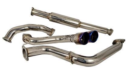 Part Number: INJ SES9001TT; Description: Titanium Tipped Cat Back System: Piping: 75mm; Tip: Titanium