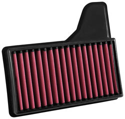Part Number: air851-344 Description: Airaid 2015-2016 Ford Mustang V8 5.0L F/I Direct Replacement Dry Filter Air Filter Color: Red Air Filter Shape: Panel