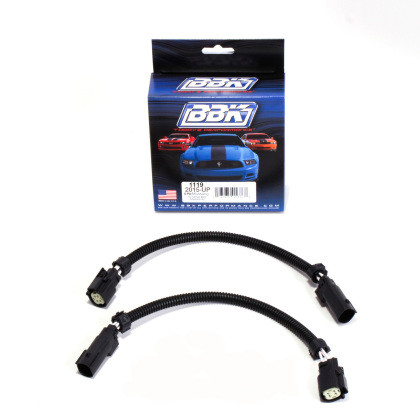 Part Number: bbk1119 Description: BBK 2015 Mustang GT V6 6-Pin Front O2 Sensor Wire Harness Extensions 12 (pair)