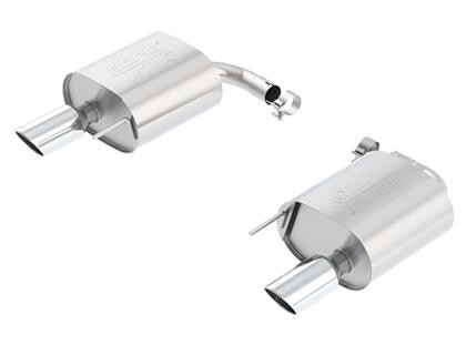 Part Number: bor11890 Description: ATAK; Rear Section Material: Stainless Steel Inlet Size (in.): 4 Outlet Size (in.): 4 Exit Position: Split Rear Exhaust Type: Single Exit Style: Straight
