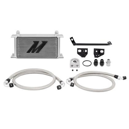 Part Number:     MMOC-MUS4-15 Description:       Ford Mustang EcoBoost Oil Cooler Kit Color:                   Silver Finish:                  Painted Material:             Aluminum