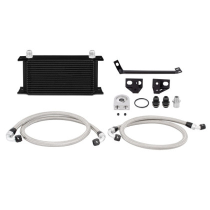 Part Number:       MMOC-MUS4-15BK Description:          Ford Mustang EcoBoost Oil Cooler Kit Color:                      Black Finish:                    Painted Material:               Aluminum