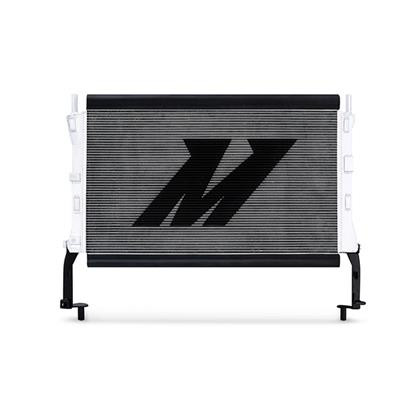 Part Number:      MMRAD-MUS4-15 Description:         Ford Mustang EcoBoost Performance Aluminum Radiator Color:                      Silver Finish:                    Polished Material:               Aluminum